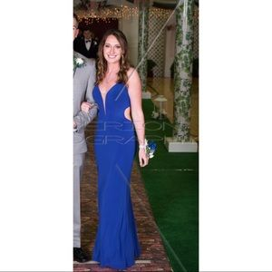 La Femme Dresses - Blue Evening Gown